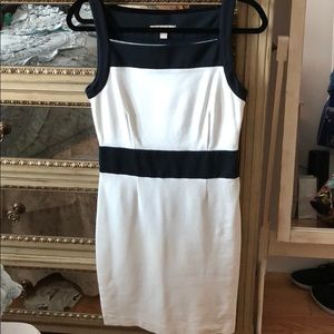 Gorgeous navy and white summer dress